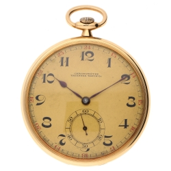 "Goldtaschenuhr ""Tavannes"" Chronometer in 585er Gelbgold"